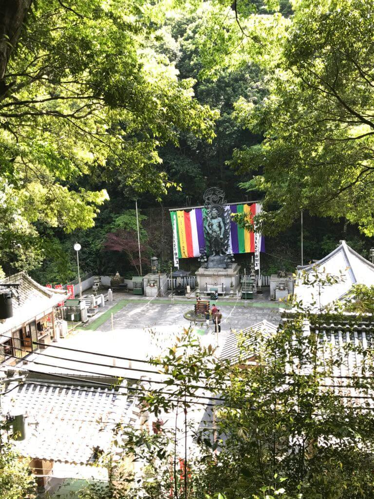 犬鳴山にあるお寺のお不動さん
