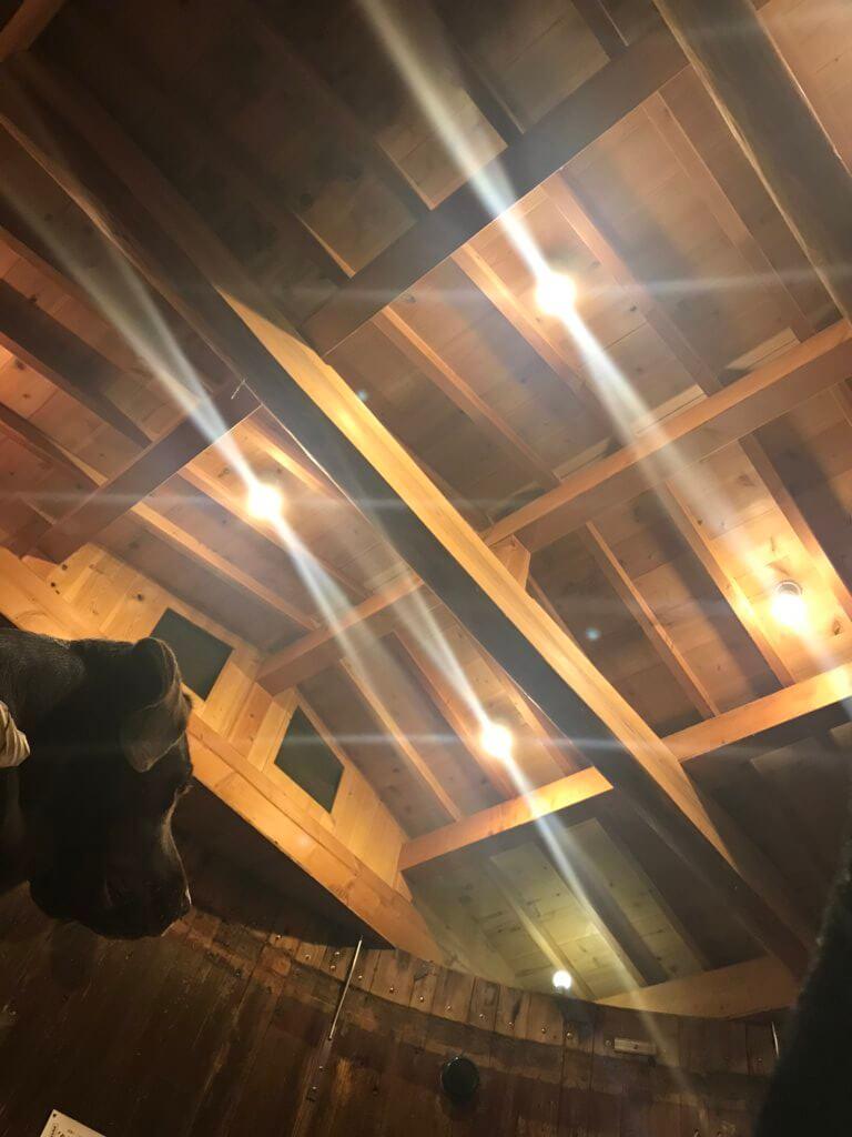 山麓苑 たるの中天井