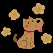 臭い犬のイラスト