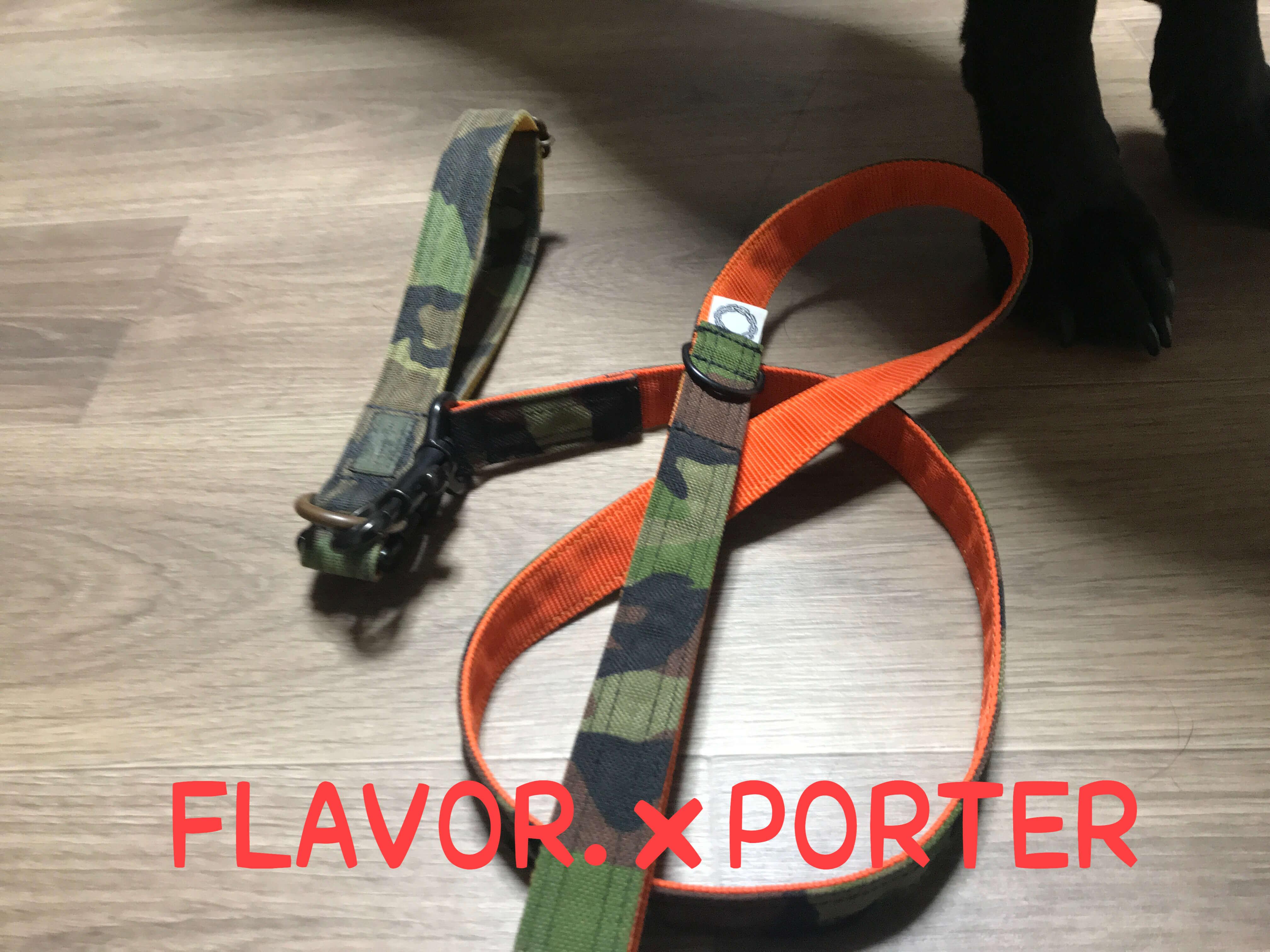 FLAVOR.×PORTER リードと首輪