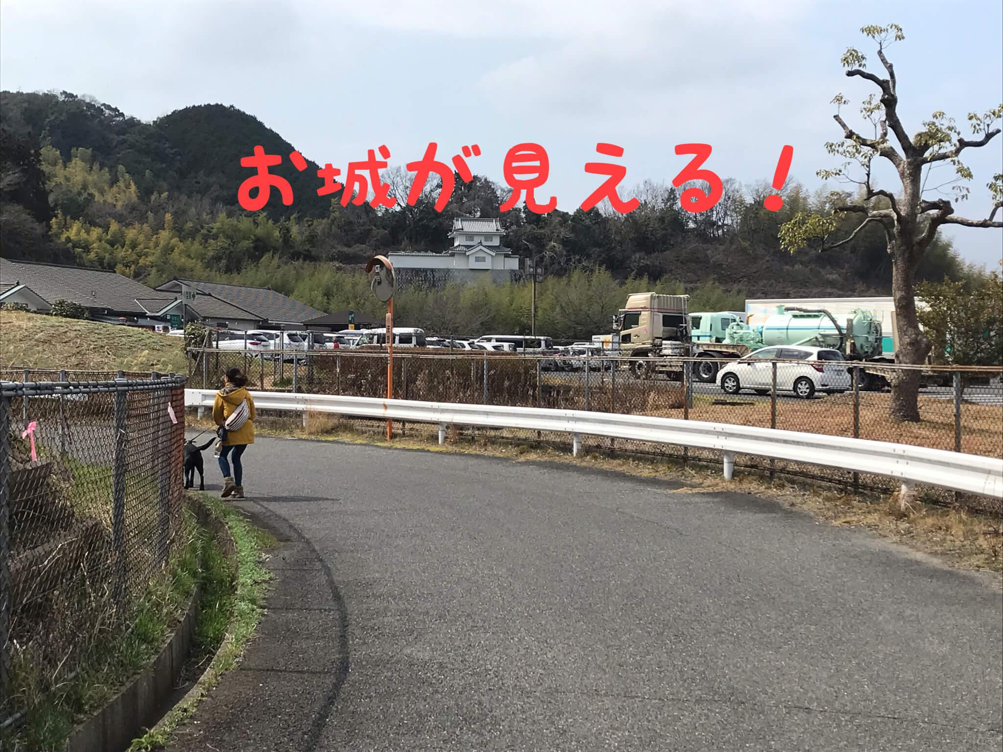 お城が見える 岸和田サービスエリア(下り)
